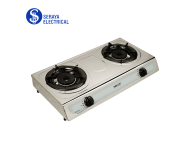 Milux Double Tornado Burner Stainless Steel Gas Cooker MSS-1022
