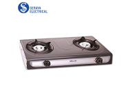 Milux Double Burner Epoxy Body Gas Cooker YS-1010B