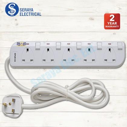 Khind 5 Ways Trailing Socket LN8135W