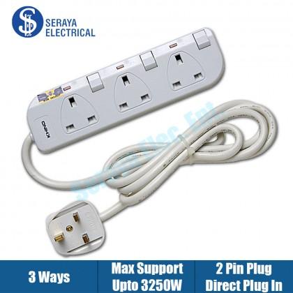 Khind 3 Ways Trailing Socket LN8133W