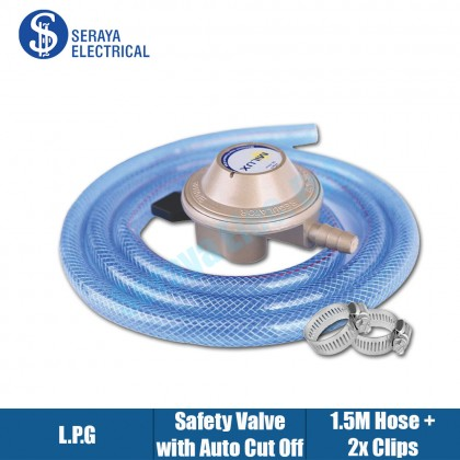 Milux Gas Regulator Set with Safety Cut-Off Features M-188CS
